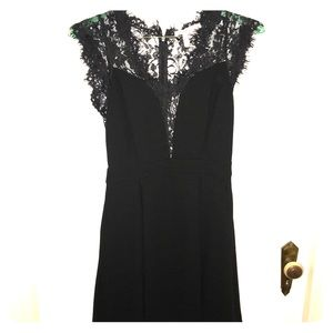 Little black cocktail dress with lace